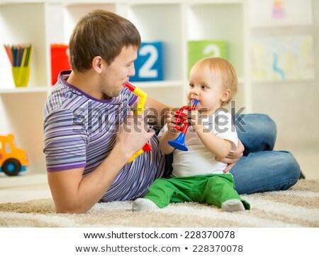 отец · ребенка · мальчика · играет · отцом · сына · строительство - Сток-фото © jarenwicklund