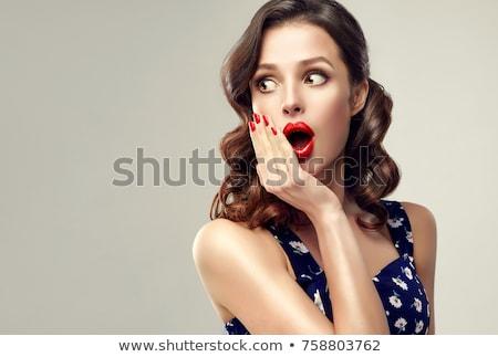 美少女 かなり 笑顔 ピンナップ スタイル 幸せ ストックフォト © arturkurjan