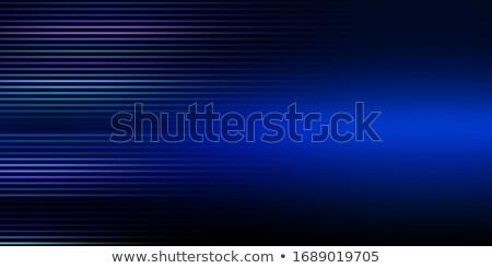 抽象的な 明るい 青 カラフル 行 波 ストックフォト © bharat