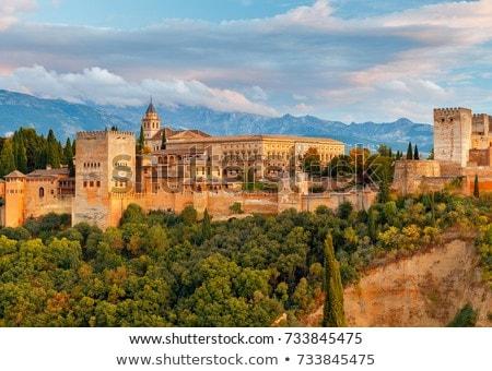 景観 · スペイン · 表示 · アルハンブラ宮殿 · 丘 · アラブ - ストックフォト © neirfy