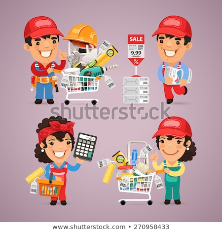 Stock photo: Workers Purchases Materials in DIY for Repair of Apartment