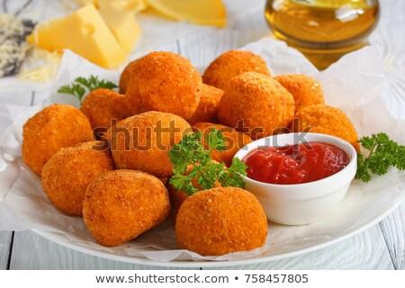 gebakken · aardappel · geïsoleerd · boter · zure · room · cheddar - stockfoto © ironstealth