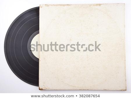 vinil · registro · envelope · cobrir · isolado · branco - foto stock © netkov1