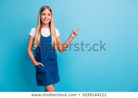 Capelli ragazza mini blu abito Foto d'archivio © Elnur
