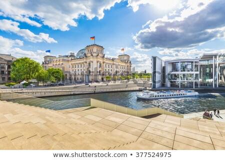 ベルリン · 景観 · 早朝 · ドイツ · 旅行 · 川 - ストックフォト © meinzahn