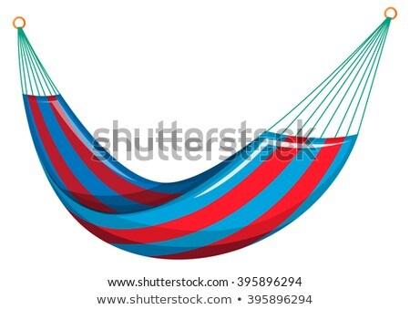 Swing кровать красный синий цветами иллюстрация Сток-фото © bluering