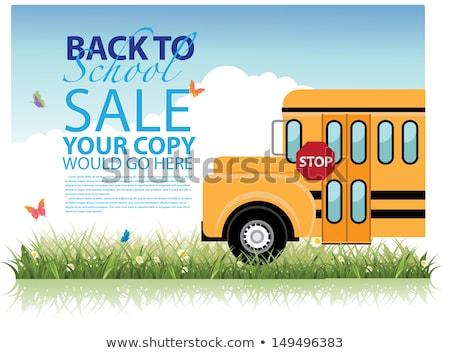 Vissza az iskolába vásár eps 10 vektor akta Stock fotó © beholdereye