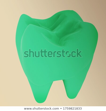 Healthy tooth Sign, round shape colorful overlay flower petals a Stock photo © Tefi