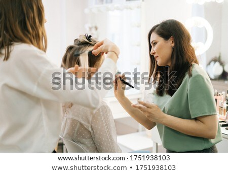 Mulher make-up noiva camarim casamento Foto stock © wavebreak_media