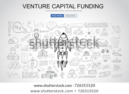 venture capital funding concept with business doodle design styl stock photo © davidarts