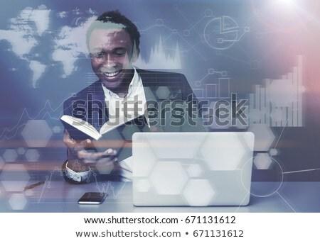 アフリカ · ビジネスマン · ビジネス · 図 · スーツ - ストックフォト © studioworkstock