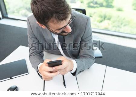 Erkek iş yürütme günlük metin Stok fotoğraf © wavebreak_media