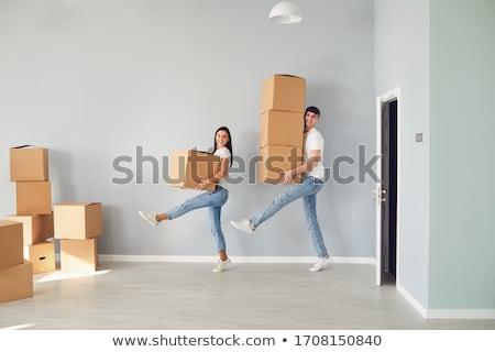 Vender comprar casa ilustração mulher financiar Foto stock © adrenalina