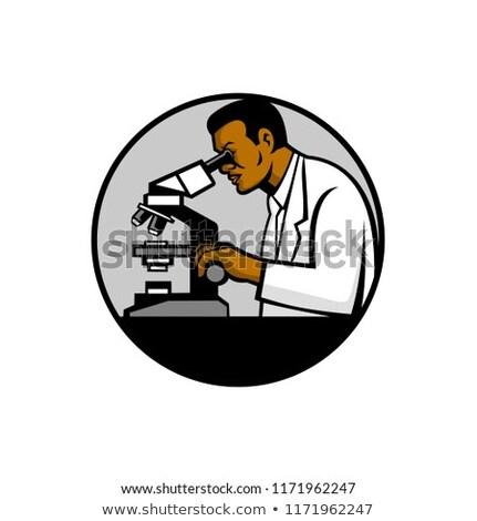 African American Research Scientist Mascot Stock photo © patrimonio