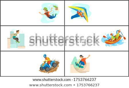 Bungee Jumping and Parkour Activity Website Set Stock photo © robuart