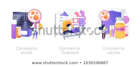 ウイルス 診断 患者 治療 抽象的な ベクトル ストックフォト © RAStudio