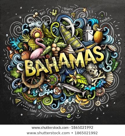 Багамские острова рисованной Cartoon иллюстрация смешные Сток-фото © balabolka