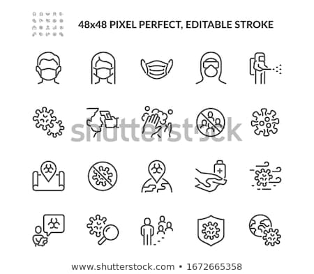 Infection related vector thin line icon Stock photo © smoki