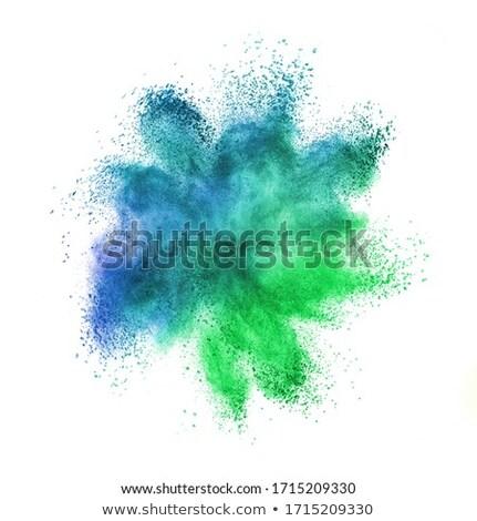 Caótico explosão cores branco abstrato pó Foto stock © artjazz