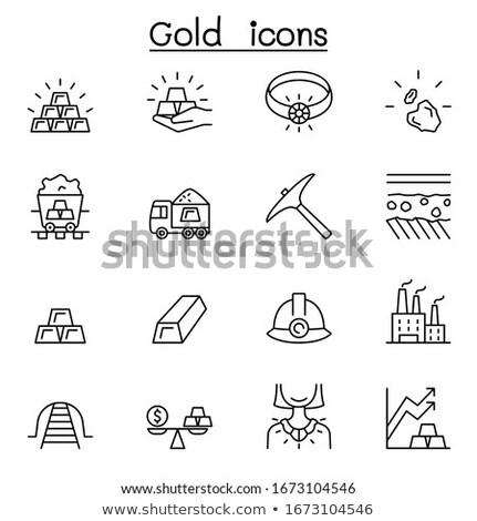 Ceny symbolika kamień wektora ikona Zdjęcia stock © ayaxmr