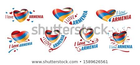 флаг Армения любви сердце свободу Сток-фото © butenkow