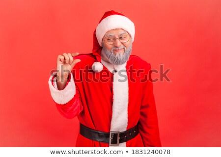 Pełen nadziei starszych brodaty człowiek gest Zdjęcia stock © deandrobot