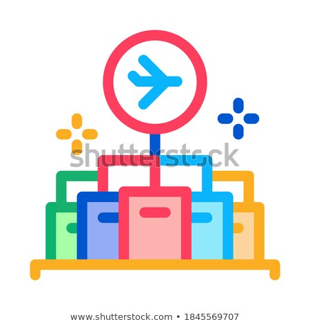 lot of goods in duty free icon vector outline illustration Stock photo © pikepicture