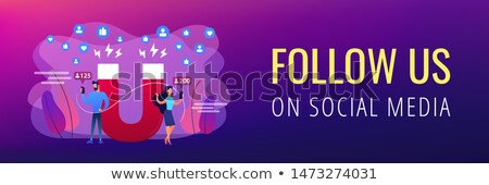 Attracting followers concept banner header. Stock photo © RAStudio
