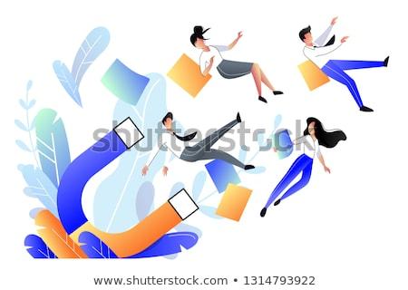 Klientela atrakcja wektora metafora działalności promocji Zdjęcia stock © RAStudio