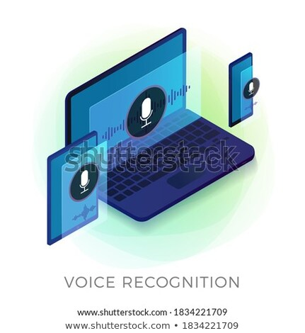 Voice Wave On Phone Screen isometric icon vector illustration Stock photo © pikepicture
