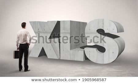 Achteraanzicht zakenman permanente afkorting leuk aandacht Stockfoto © ra2studio