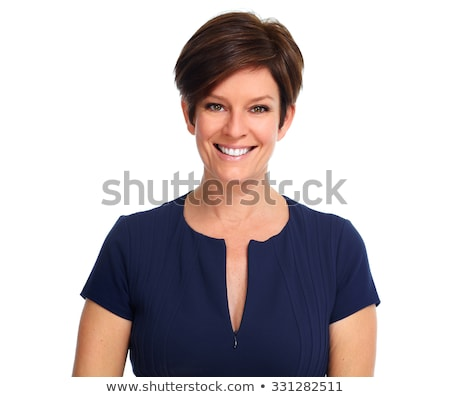 Business Woman Portrait Isolated Over A White Background Сток-фото © kurhan