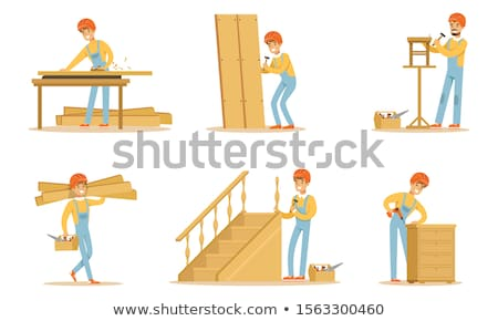 Woodworker with planks Stock photo © photography33