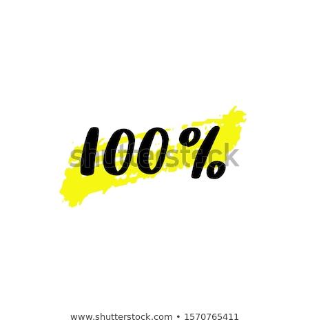 Cento cento immagine vendita pulsanti design Foto d'archivio © cteconsulting