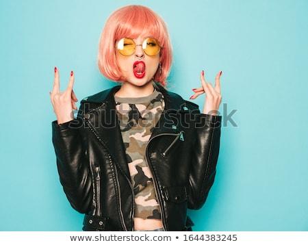 sexy fashion woman in pink stock photo © iko