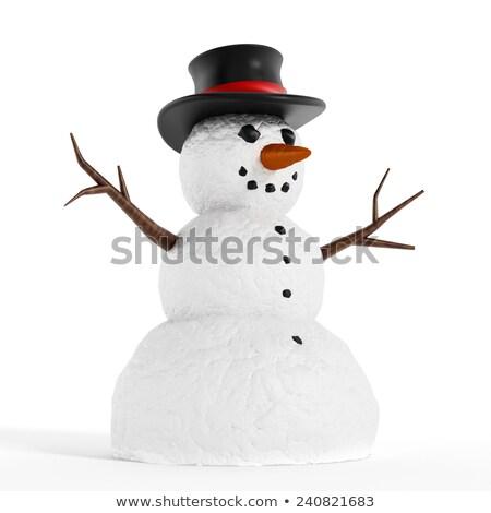 Cyfrowo wygenerowany biały śniegu człowiek Zdjęcia stock © wavebreak_media
