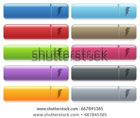 Flash Pink Vector Button Icon Stock photo © rizwanali3d
