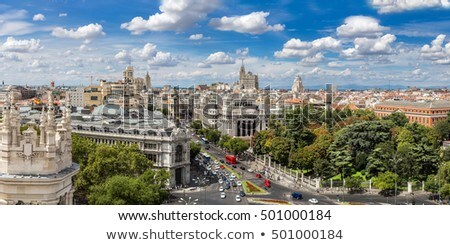 Zdjęcia stock: Madryt · Cityscape · Hiszpania · panoramę · piękna · zmierzch