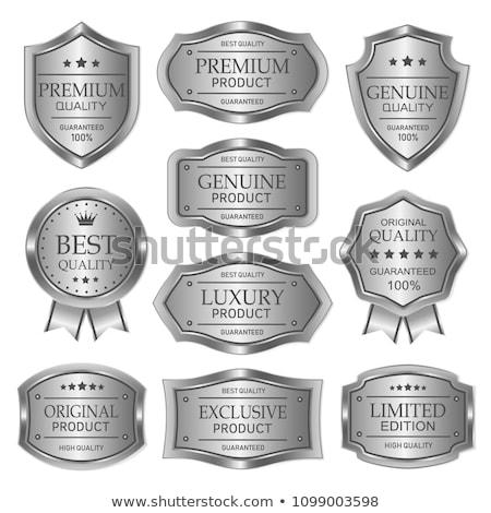 best quality silver badge label design Stock photo © SArts