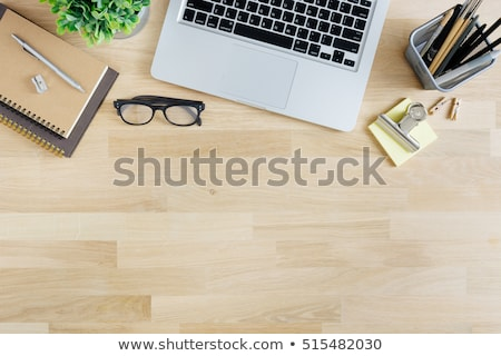 office desk header top view stock photo © andreasberheide