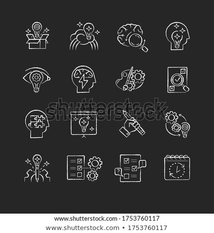 Generation of Ideas on Chalkboard with Doodle Icons. Stock photo © tashatuvango