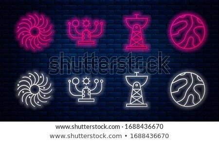 Communication Systems on Dark Brick Wall. Stock photo © tashatuvango