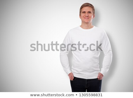 Young man in grey hooded top Stock photo © IS2