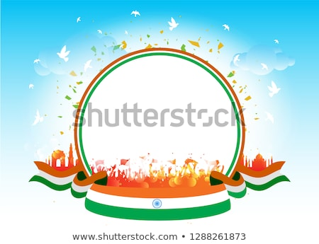 Absztrakt indiai köztársaság nap háttér zászló Stock fotó © pathakdesigner