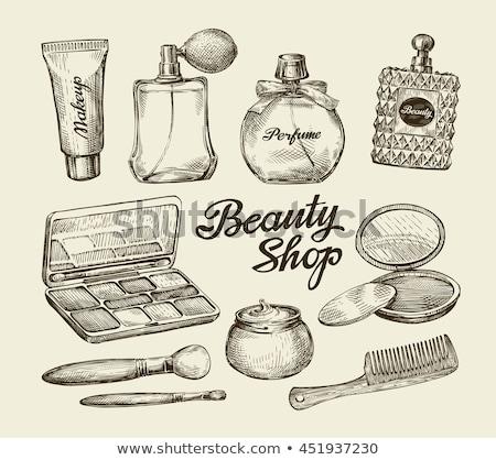 手 ミラー 香水 ボトル ストックフォト © IS2