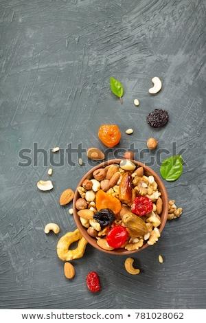 Granola dió aszalt gyümölcs étel Stock fotó © M-studio