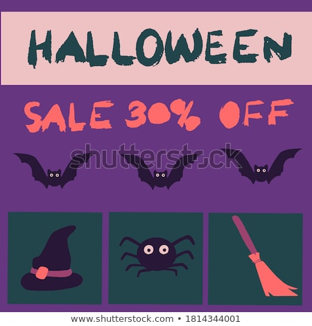 Stock photo: Halloween banners set with pumpkin lantern, mummy, witch hat