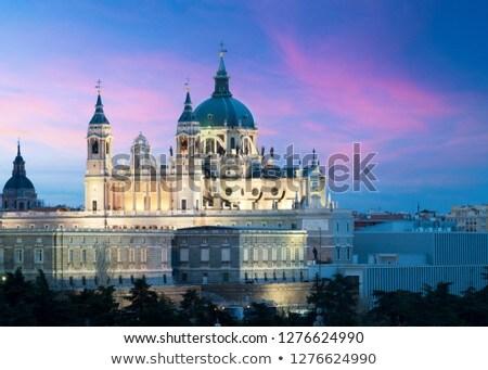 katedrális · Madrid · Spanyolország · kupola · esküvő · fény - stock fotó © boggy