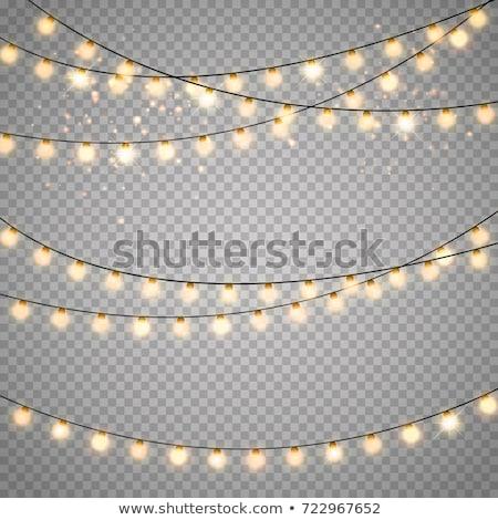 Navidad · guirnalda · establecer · transparente · gradiente - foto stock © cammep
