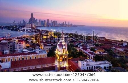 Panorama of Cartagena at sunset Stock photo © benkrut